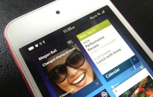 BlackBerry 10 OS auf iPhone und Android-Geräten: Demo-Seite des Betriebssystems