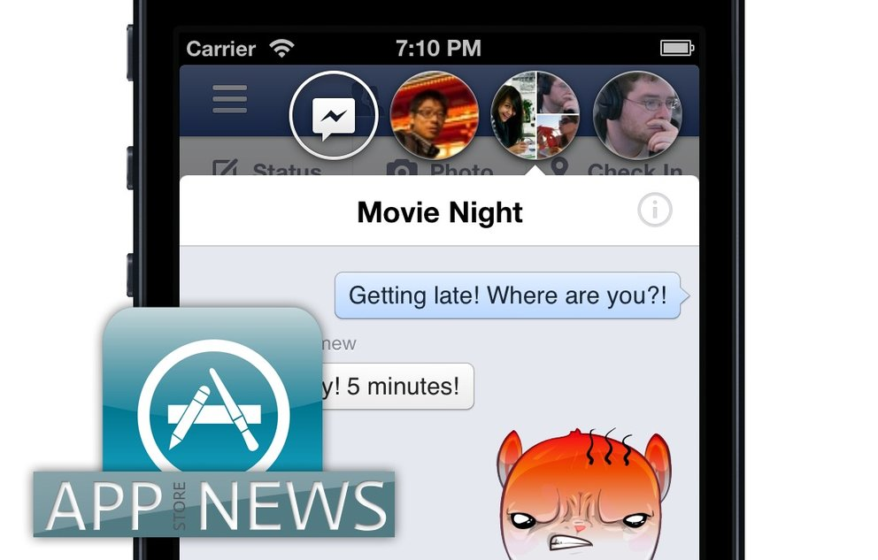 iOS-Apps: Facebook mit bequemeren Chat, Youtube mit Livestream, Simpsons mit Schlangen