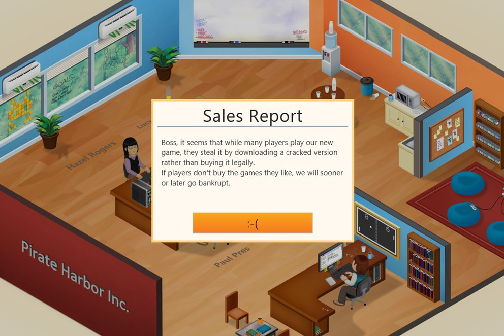 """Why are there so many people that pirate?"": Game Dev Tycoon zeigt die Folgen von Piraterie"