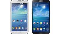 Galaxy Mega 6.3 und 5.8: Größenvergleich mit der Konkurrenz