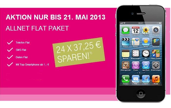 Allnet Flat Paket für monatlich 42,70 statt 79,95 Euro bei T-Mobile