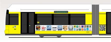 App-Straßenbahn: Rollender App Store fährt durch Berlin