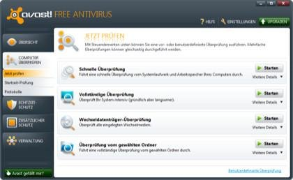 Avast Antivir Screenshot