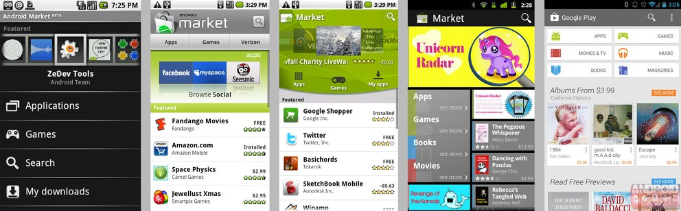 Android Market (alle Versionen)
