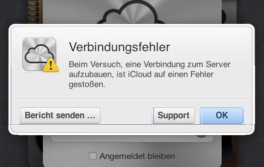 iCloud: Weltweite Verbindungsabbrüche (3. Update)