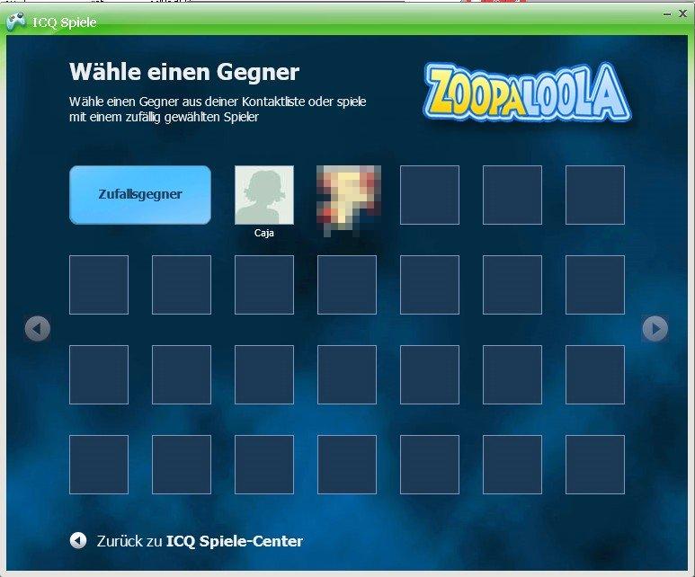 Für ICQ Spiele können Gegner aus der Kontaktliste gewählt werden