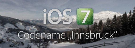 """iOS 7 Codename """"Innsbruck"""""""