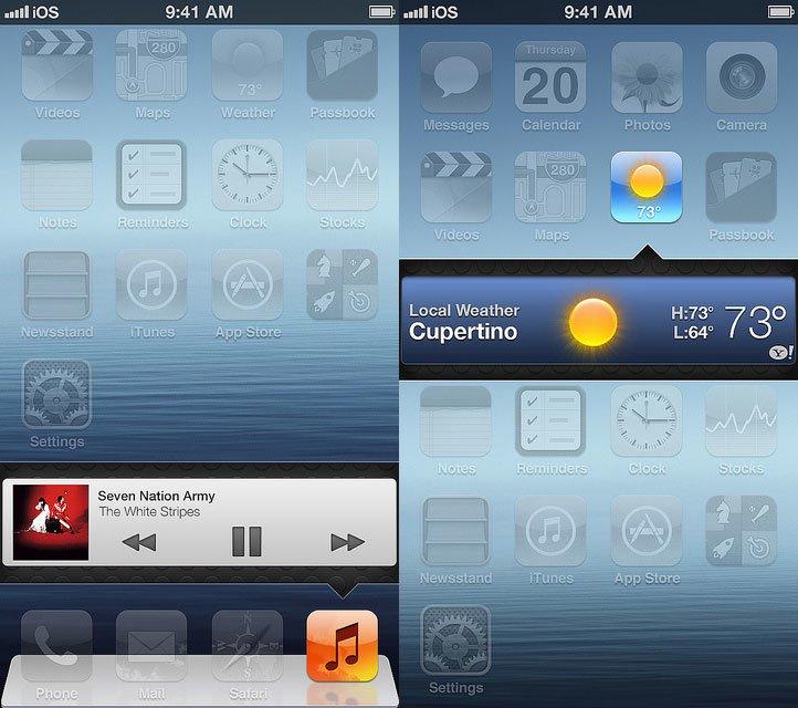 iOS 7 Konzept - Widgets