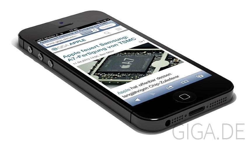 "iPhone 5S mit ""Stumm-Knopf"" statt Stummschalter - GIGA Mockup"