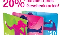 iTunes-Gutscheinkarten mit 20 Prozent Rabatt