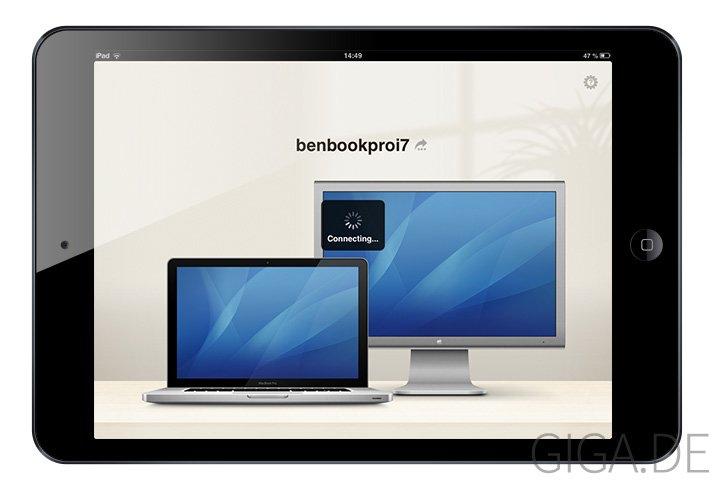 Mini Display - iPad mini - Auto-Connect mit dem Mac