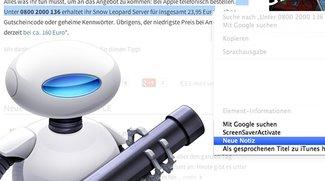 Tipp für OS X: Neue Notiz aus Zwischenablage erstellen