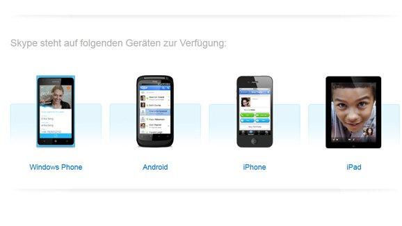 Skype für Smartphones