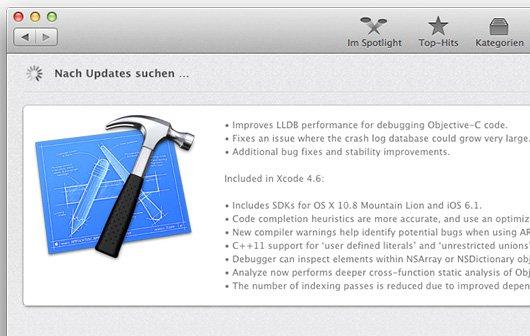 Update für Xcode: Version 4.6.2 vor der WWDC