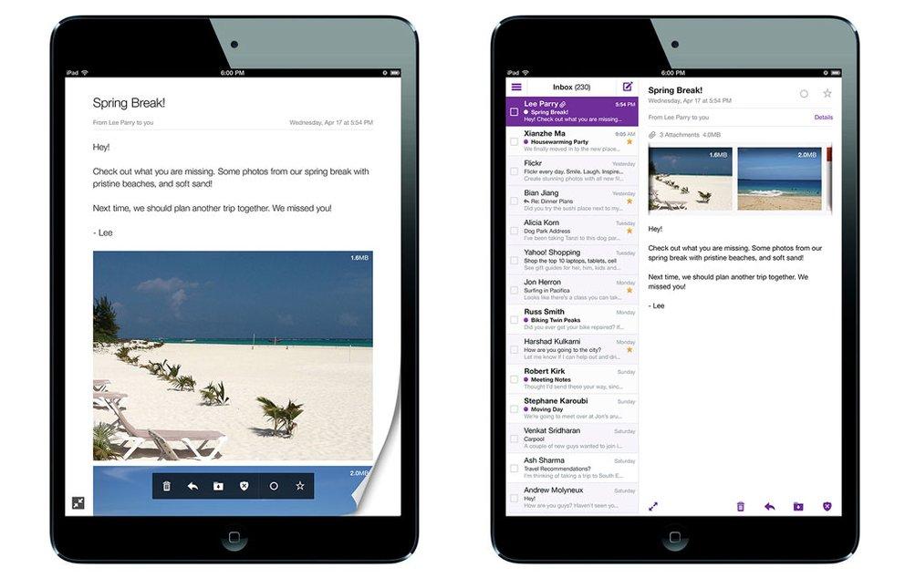 Yahoo! Mail für iPad (Universal-App)