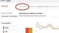 Google Trends integriert Such-Statistiken von YouTube