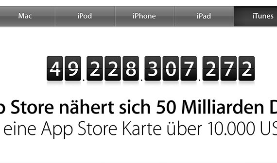 50 Milliarden Apps: Countdown im App Store und 10.000 Dollar Gewinn