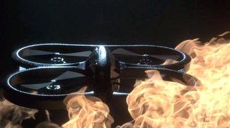 AR.Drone 2.0: Super-Zeitlupe zwischen den Elementen (Video of the Day)