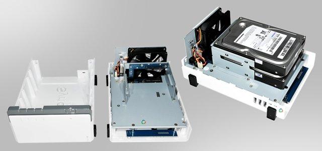 Ein NAS besteht im Grunde nur aus Festplatten und etwas Elektronik.