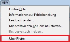 Firefox Absturz Version