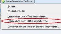 Firefox Favoriten exportieren: Die Lesezeichensammlung abspeichern