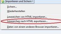 Firefox Bookmarks: Exportieren und Sichern Ihrer Lesezeichen
