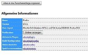 Das Firefox Profil: Ein nützliches Feature des Webbrowsers