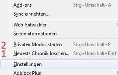 Firefox: Verlauf löschen - so...