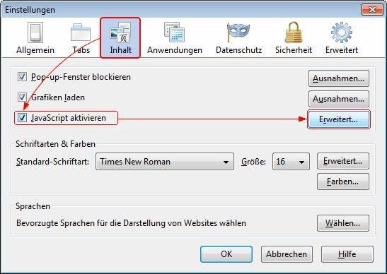 Javascript Aktivieren Mozilla Firefox
