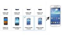 Galaxy S4 mini taucht auf offizieller Samsung-Webseite auf