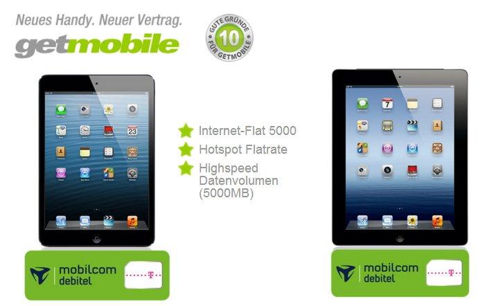 Internet-Flat mit 5000 MB und iPad mini ohne Zuzahlung