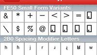 Sonderzeichen-Tabelle für iPhone & iPad: Pfeile, Brüche, Hochzahlen… (Unicode)