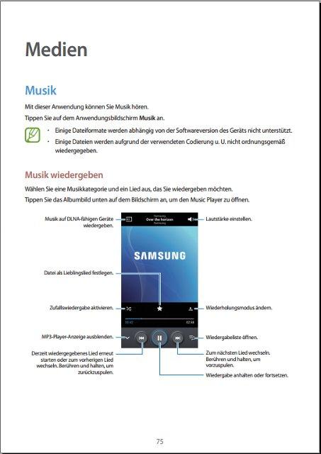 Samsung Galaxy S4 Handbuch Medien