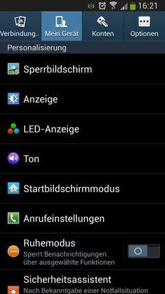 Samsung -Galaxy-S4-Menü-Mein-Gerät