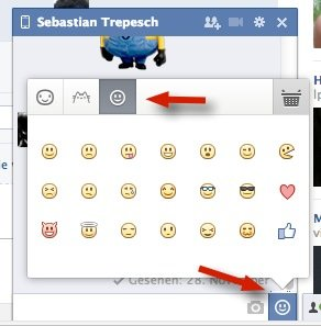 Smileys in Facebook