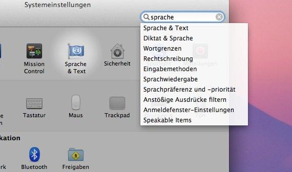OS X: Sprache & Text - die Einstellungen im Überblick