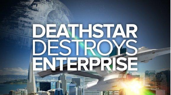 Trekkie Watsche: Todesstern zerstört die Enterprise