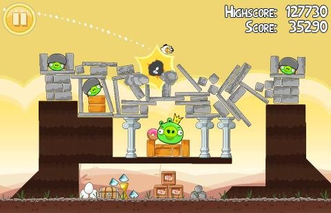 Angry Birds für Windows Phone 7 erschienen