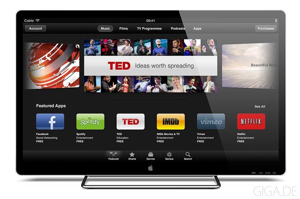 Apple Fernseher Konzept von Sam Beckett