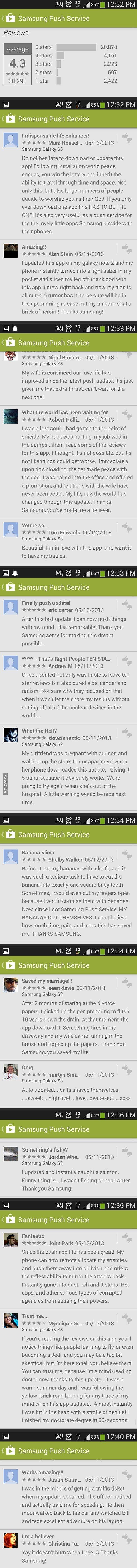Samsung Push Services Reviews