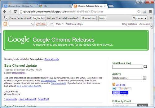 Google Chrome Beta - Der Browser der Zukunft