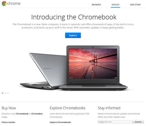 Chrome OS Chromebook