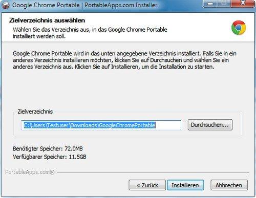 Google Chrome Portable - Der Browser für den USB-Stick