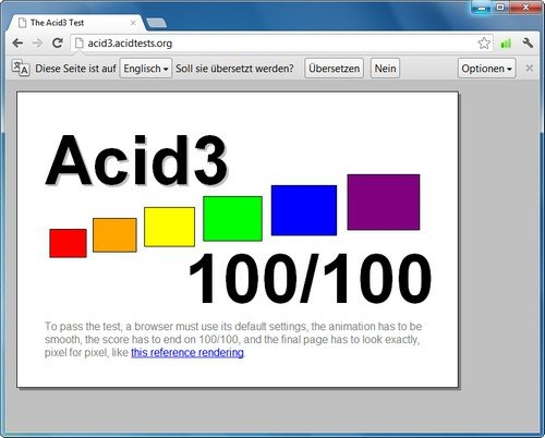 Google Chrome Acid3-Test