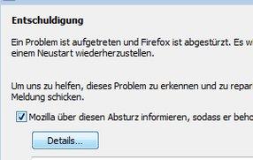 Firefox stürzt ab: Was tun beim Crash?