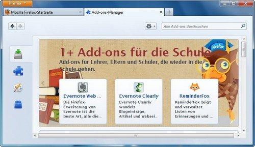 Firefox Add-ons finden