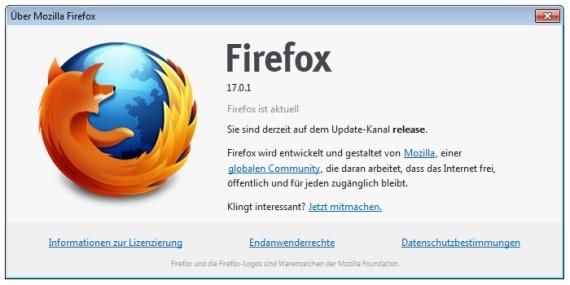 Aktualisierung Firefox
