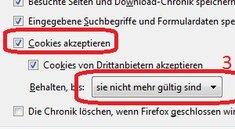 Firefox Cookies löschen, anzeigen und verwalten: Das Browser-Gedächtnis