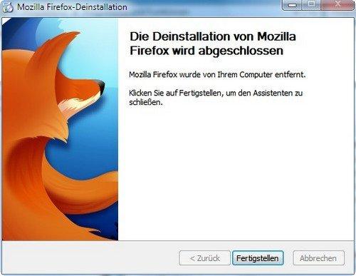 Mozilla Firefox deinstallieren