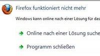 Firefox funktioniert nicht mehr: Crash, Freeze, Lagg und anderes